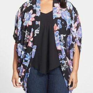 City Chic lotus kimono jacket